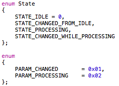 State-handling for the parameter smoother.