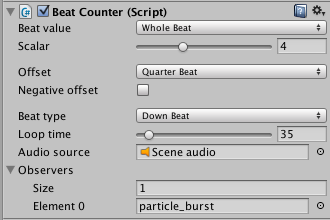 Scaling up the beat values by a factor of 4 treats each beat as a measure instead of a single beat (assuming 4/4 time).